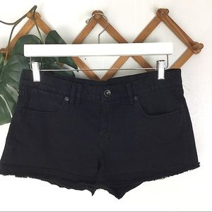 Madewell | Black Denim Raw Hem Shorts Size 29